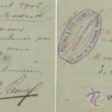 Sellos: 1906 ANTIGUO Y RARO ENTERO POSTAL DE FRANCIA, CIRCULADO DE LA BASTILLA, PARIS A MADRID.. Lote 27189014