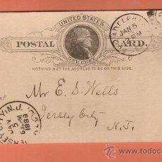 Sellos: PRECIOSO ENTERO POSTAL FECHADO EN 1889 MATASELLOS PERFECTOS. Lote 26067649