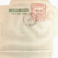 Selos: AEROGRAMA CON FRANQUEO MECANICO DE 1,50 PTS MAT CARABANCHEL BAJO MADRID 1957. Lote 27151913
