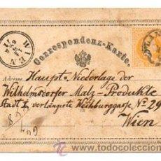 Sellos: CORRESPONDENZ - KARTE. CIRCULADO EN 1871. (HISTORIA POSTAL). Lote 28037386
