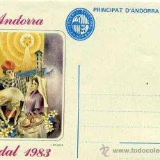 Selos: SOBRE ENTERO POSTAL ANDORRA - NADAL 1983 - NUEVO. Lote 31828975