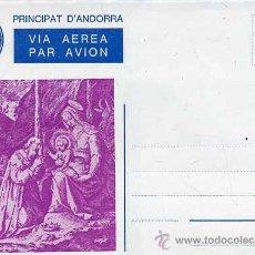 Selos: SOBRE ENTERO POSTAL ANDORRA - NADAL 1981 - NUEVO. Lote 31828981