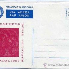Selos: SOBRE ENTERO POSTAL ANDORRA - NADAL 1980 - NUEVO. Lote 31828985