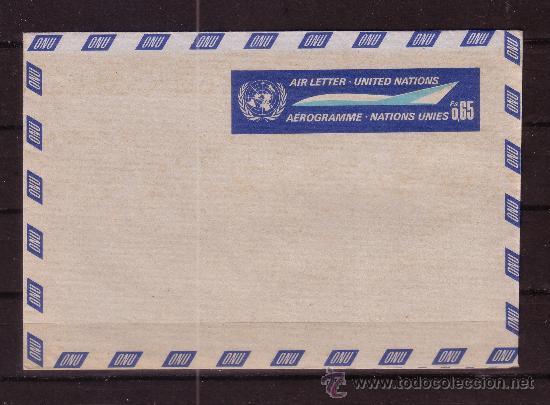 NACIONES UNIDAS AEROGRAMA - (Sellos - Extranjero - Entero postales)