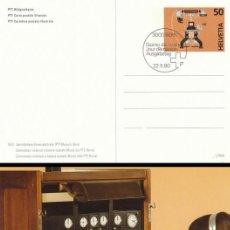 Sellos: SUIZA, TELEFONO, CONMUTADOR UNIVERSAL A BATERIA CENTRAL, ENTERO POSTAL PRIMER DIA DE 22-5-1990. Lote 47325400