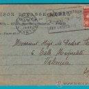 Sellos: ENTERO POSTAL FRANCIA 1923, MAISON BOUASSE LEBEL CHEQUE POSTAUX, PARIS - VALENCIA. Lote 34581828