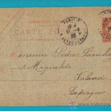 Sellos: ENTERO POSTAL FRANCIA, REPUBLIQUE FRANCAISE CARTE POSTALE 21 AOUT 1920 PARIS VALENCIA. Lote 34582078
