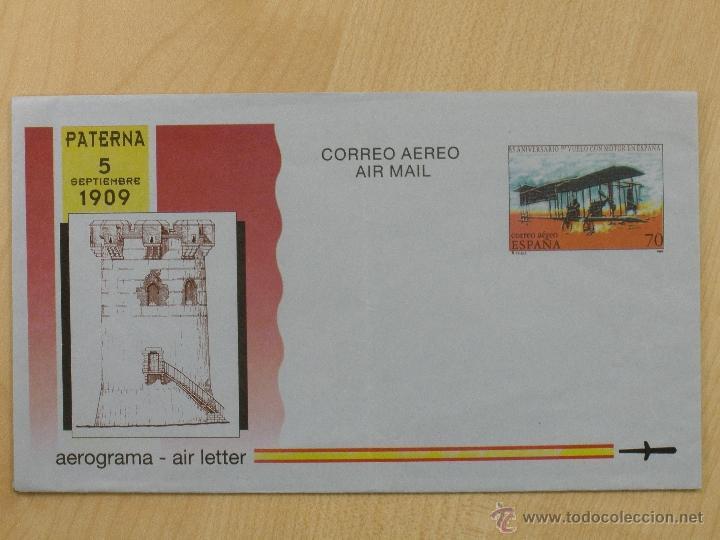 AEROGRAMAS - CORREO AEREO -1994 - EDIFIL 218 - 85 ANIV. PRIMER VUELO CON MOTOR. (Sellos - Extranjero - Entero postales)