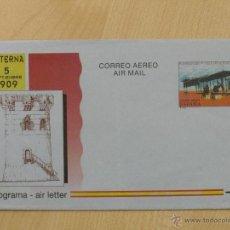 Sellos: AEROGRAMAS - CORREO AEREO -1994 - EDIFIL 218 - 85 ANIV. PRIMER VUELO CON MOTOR.. Lote 39420077