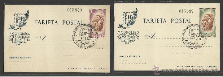 ENTERO POSTAL - COLECCION 2 POSTALES - CIF 1960 - VER FOTOS - (17792) (Sellos - Extranjero - Entero postales)