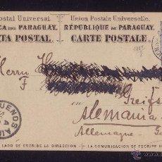 Sellos: PARAGUAY.1888.ENTERO POSTAL DE 3 CTVOS. DE ASUNCIÓN A ALEMANIA. TRÁNSITOS ARGENTINOS.RARO DESTINO.. Lote 24424238