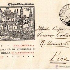 Sellos: ENTERO POSTAL DE ITALIA. UNIVERSIDAD DE PAVÍA.. Lote 43447213