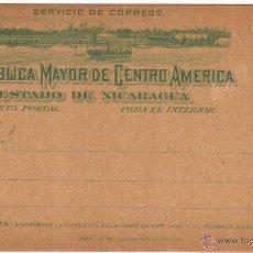 Sellos: NICARAGUA TARJETA POSTAL PREFRANQUEADA INTERIOR 2 CENTAVOS 1898 SC. Lote 178719631