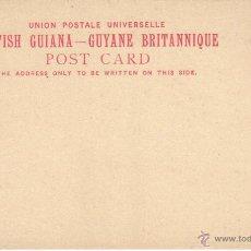 Sellos: GUYANA BRITANICA TARJETA POSTAL 2 CENTAVOS 1840 1901 SC . Lote 43602751