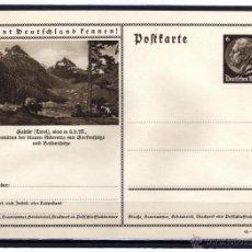 Sellos: ENTERO POSTAL ALEMANIA NAZI DEUTSCHES III REICH, CONOCER ALEMANIA, EL TIROL - MONTAÑAS. Lote 44021973