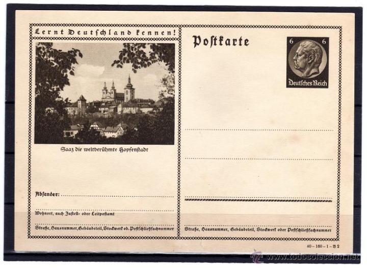 Sellos: ENTERO POSTAL ALEMANIA NAZI DEUTSCHES III REICH, CONOCER ALEMANIA, - Foto 2 - 44022260
