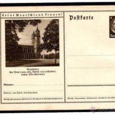 Sellos: ENTERO POSTAL ALEMANIA NAZI DEUTSCHES III REICH, CONOCER ALEMANIA. MAGDEBURG. Lote 44022356