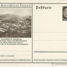 Sellos: ENTERO POSTAL ALEMANIA NAZI DEUTSCHES REICH, CONOCER ALEMANIA, KARPACZ MONTES DE LOS GIGANTES. Lote 44111830