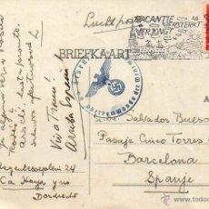 Sellos: ENTEROPOSTAL DIRIGIDO A ESPAÑA DESDE LA HOLANDA OCUPADA POR LOS ALEMANES. AÑO 1940.. Lote 102072108