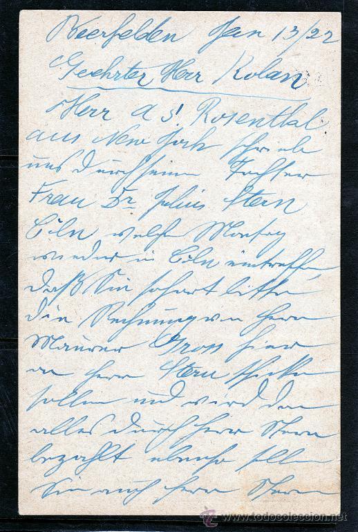 Sellos: ALEMANIA. ENTERO POSTAL 1922 FRANQUEO ADICIONAL DEUTSCHES REICH - Foto 2 - 48341153