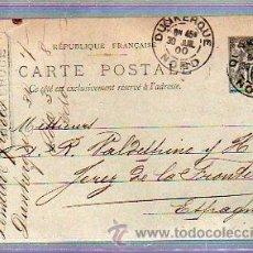 Sellos: ENTERO POSTAL. DE FRANCIA DIRIGIDO A JEREZ, CADIZ. 1900. Lote 49189699