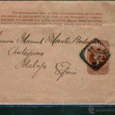 Sellos: ENTERO POSTAL DE INGLATERRA A MALAGA. Lote 49206886