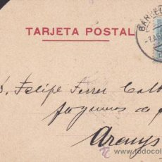 Sellos: ENTERO POSTAL CIRCULADO 1928 HILADOS MAQUINA JOAQUIN LAYRET BARCELONA . Lote 52531226