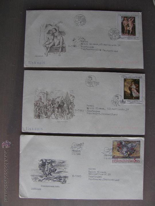 Sellos: Checoslovaquia. Lote de más de 200 sobres primer día, entero postales, tarjetas postales, etc. - Foto 4 - 52953992