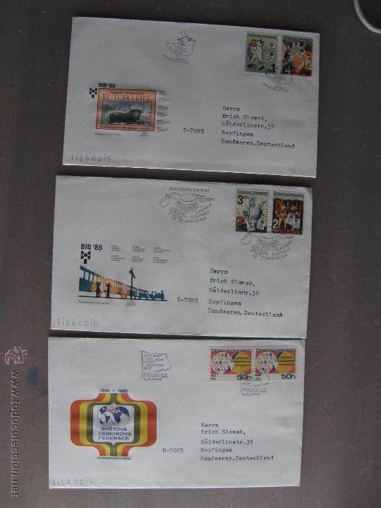 Sellos: Checoslovaquia. Lote de más de 200 sobres primer día, entero postales, tarjetas postales, etc. - Foto 6 - 52953992