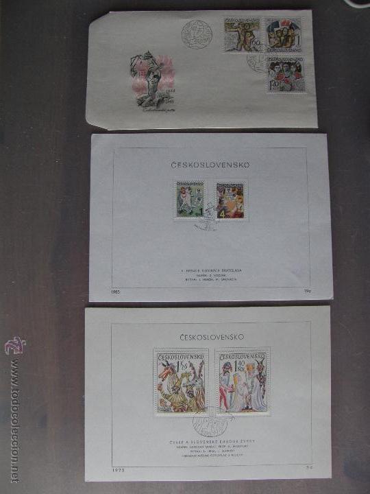 Sellos: Checoslovaquia. Lote de más de 200 sobres primer día, entero postales, tarjetas postales, etc. - Foto 13 - 52953992