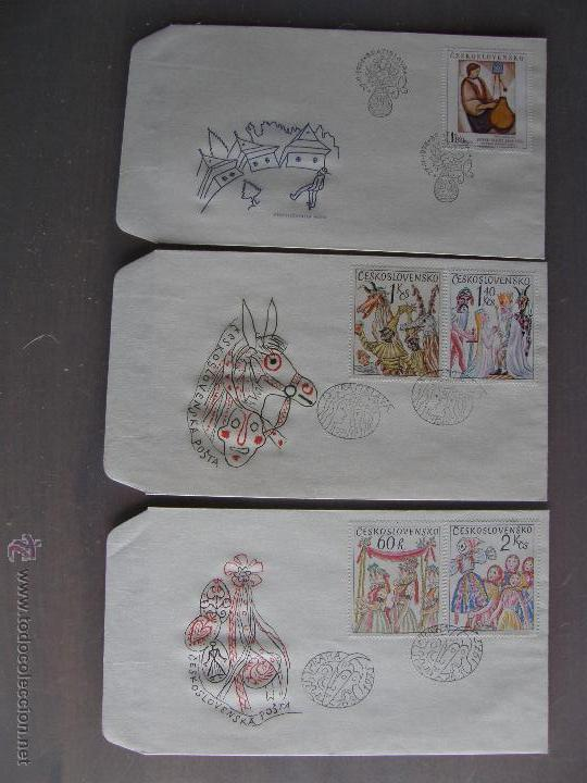 Sellos: Checoslovaquia. Lote de más de 200 sobres primer día, entero postales, tarjetas postales, etc. - Foto 17 - 52953992