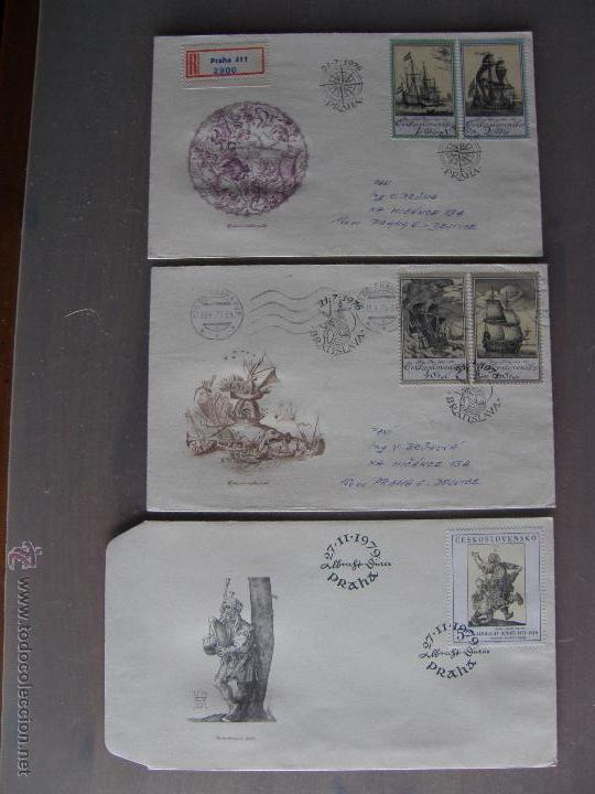 Sellos: Checoslovaquia. Lote de más de 200 sobres primer día, entero postales, tarjetas postales, etc. - Foto 19 - 52953992