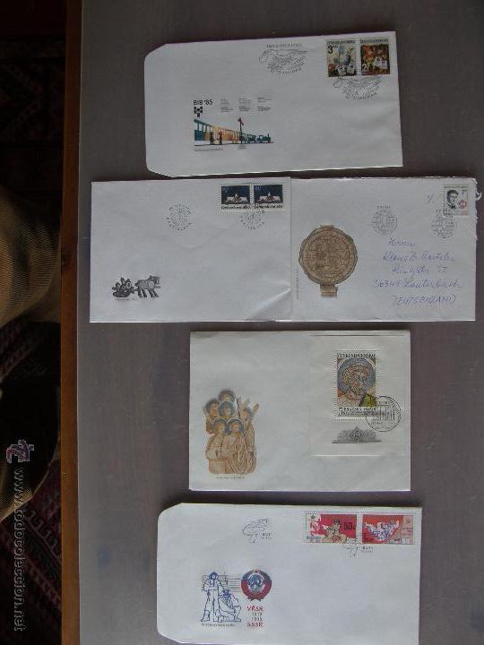Sellos: Checoslovaquia. Lote de más de 200 sobres primer día, entero postales, tarjetas postales, etc. - Foto 26 - 52953992
