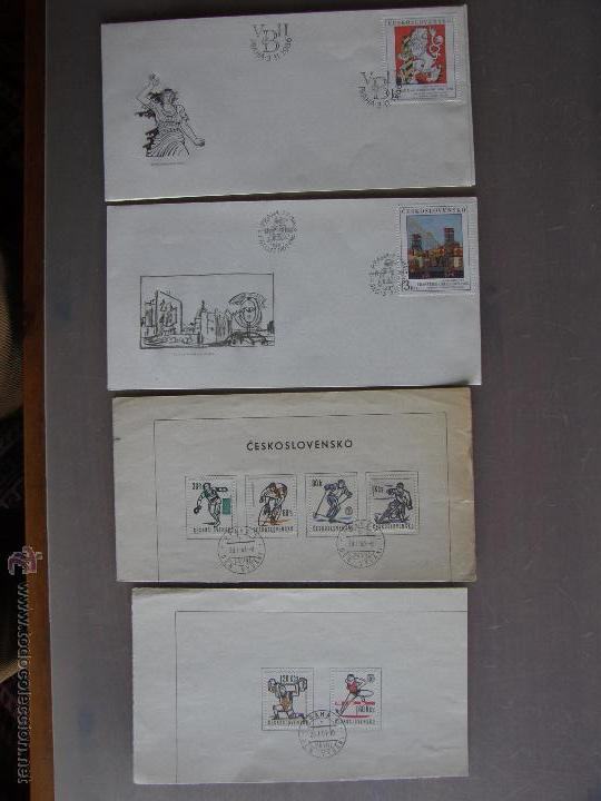 Sellos: Checoslovaquia. Lote de más de 200 sobres primer día, entero postales, tarjetas postales, etc. - Foto 29 - 52953992