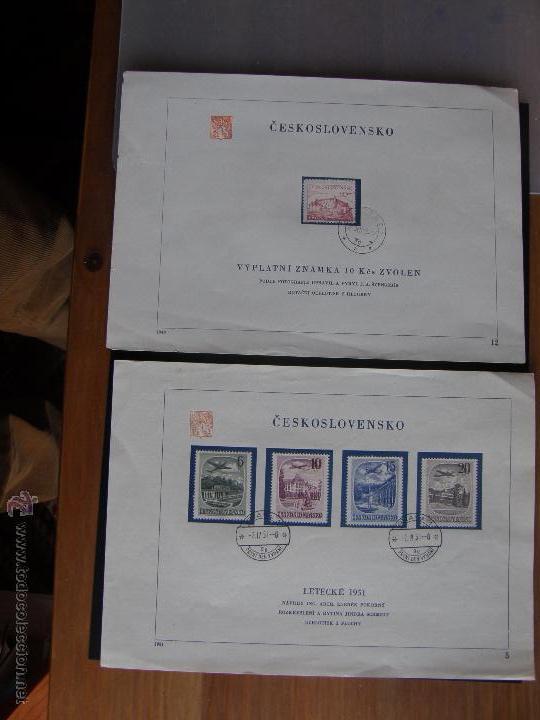 Sellos: Checoslovaquia. Lote de más de 200 sobres primer día, entero postales, tarjetas postales, etc. - Foto 36 - 52953992