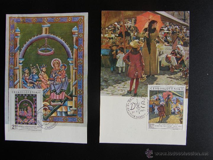 Sellos: Checoslovaquia. Lote de más de 200 sobres primer día, entero postales, tarjetas postales, etc. - Foto 40 - 52953992