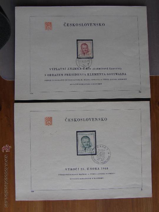 Sellos: Checoslovaquia. Lote de más de 200 sobres primer día, entero postales, tarjetas postales, etc. - Foto 51 - 52953992