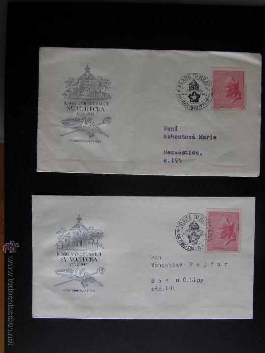 Sellos: Checoslovaquia. Lote de más de 200 sobres primer día, entero postales, tarjetas postales, etc. - Foto 52 - 52953992