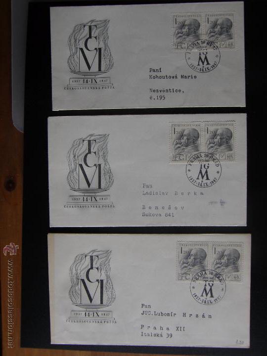 Sellos: Checoslovaquia. Lote de más de 200 sobres primer día, entero postales, tarjetas postales, etc. - Foto 53 - 52953992