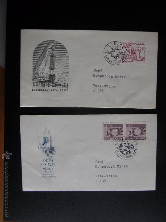 Sellos: Checoslovaquia. Lote de más de 200 sobres primer día, entero postales, tarjetas postales, etc. - Foto 54 - 52953992
