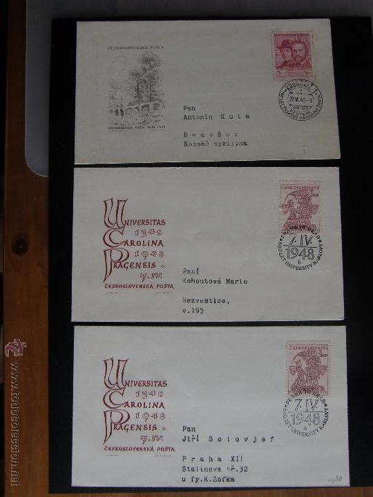 Sellos: Checoslovaquia. Lote de más de 200 sobres primer día, entero postales, tarjetas postales, etc. - Foto 56 - 52953992