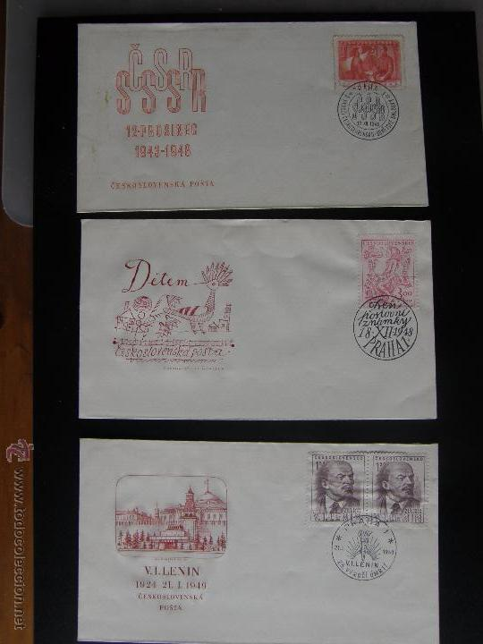 Sellos: Checoslovaquia. Lote de más de 200 sobres primer día, entero postales, tarjetas postales, etc. - Foto 57 - 52953992
