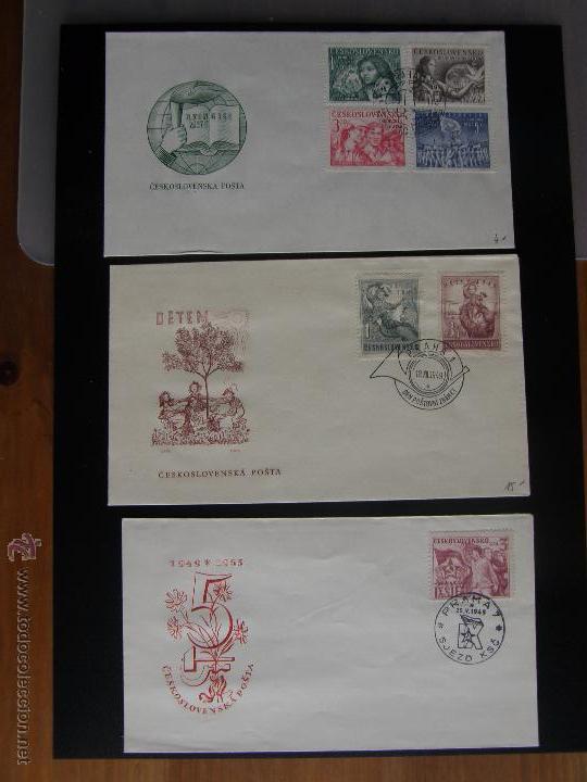 Sellos: Checoslovaquia. Lote de más de 200 sobres primer día, entero postales, tarjetas postales, etc. - Foto 58 - 52953992