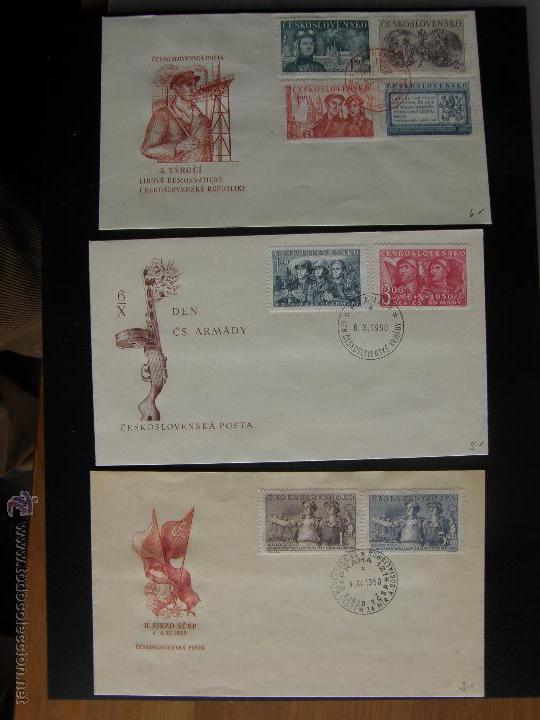 Sellos: Checoslovaquia. Lote de más de 200 sobres primer día, entero postales, tarjetas postales, etc. - Foto 59 - 52953992