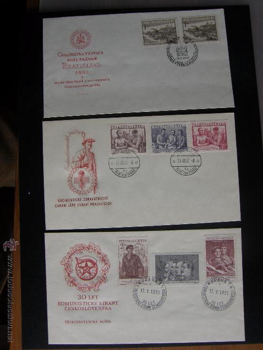 Sellos: Checoslovaquia. Lote de más de 200 sobres primer día, entero postales, tarjetas postales, etc. - Foto 60 - 52953992