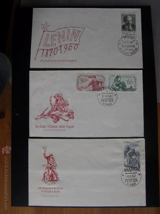 Sellos: Checoslovaquia. Lote de más de 200 sobres primer día, entero postales, tarjetas postales, etc. - Foto 62 - 52953992