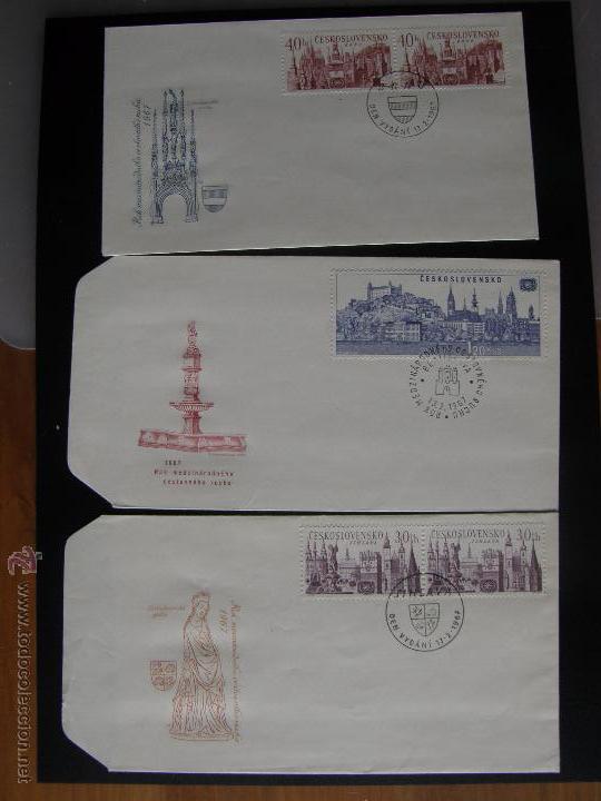 Sellos: Checoslovaquia. Lote de más de 200 sobres primer día, entero postales, tarjetas postales, etc. - Foto 65 - 52953992