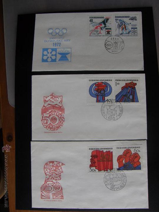Sellos: Checoslovaquia. Lote de más de 200 sobres primer día, entero postales, tarjetas postales, etc. - Foto 67 - 52953992