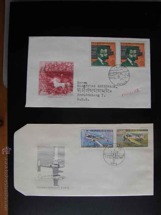 Sellos: Checoslovaquia. Lote de más de 200 sobres primer día, entero postales, tarjetas postales, etc. - Foto 68 - 52953992