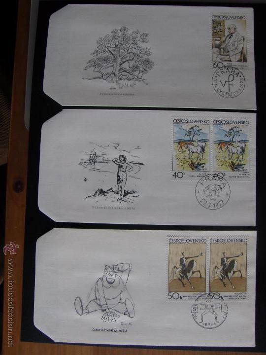 Sellos: Checoslovaquia. Lote de más de 200 sobres primer día, entero postales, tarjetas postales, etc. - Foto 69 - 52953992